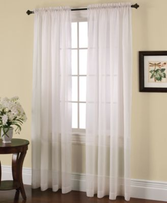"""Solunar Crushed Voile 54"""" x 63"""" Insulating Sheer Curtain Panel"""