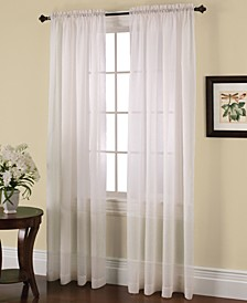 Solunar Crushed Voile Insulating Sheer Curtain Panel Collection