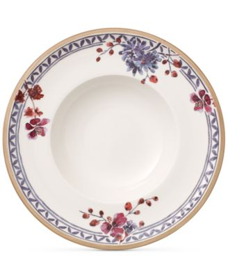 Artesano Provencal Lavender Collection Porcelain Rim Soup Bowl