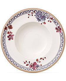 Villeroy & Boch Artesano Provencal Lavender Collection Porcelain Rim Soup Bowl