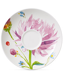 Villeroy & Boch Amnut Flowers Collection Bone China Tea Cup Saucer
