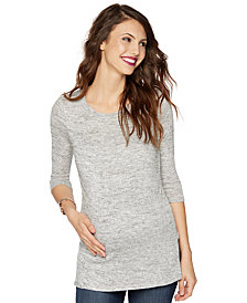 A Pea in the Pod Maternity Three-Quarter-Sleeve Sweater
