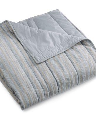 Linen Stripe Full/Queen Coverlet, Created for Macy's