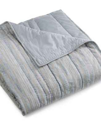 Hotel Collection Linen Stripe Full/Queen Coverlet, Created For Macyu0027s