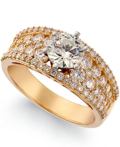 Diamond Multi-Row Ring (1/4 ct. t.w.) in 14k Gold