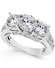 Diamond 3-Stone Ring (3 ct. t.w.) in 14k White Gold