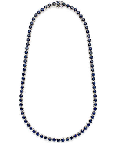 Blue Sapphire Collar Necklace (25 ct. t.w.) in Sterling Silver, Created for Macy's
