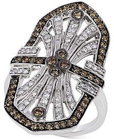 Chocolatier® Chocolate Deco Estate™  Diamond ( 9/10 ct. t.w.)  Ring in 14k White Gold