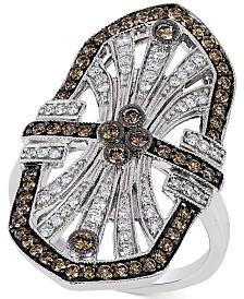 Le Vian Chocolatier® Chocolate Deco Estate™  Diamond ( 9/10 ct. t.w.)  Ring in 14k White Gold