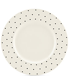 kate spade new york Larabee Dot Cream Collection Stoneware Dinner Plate