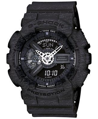 G-Shock Men's Analog-Digital Black Bracelet Watch 55x51mm