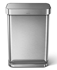 simplehuman 55L Step Trash Can