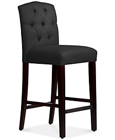 Jillian Tufted Arch Bar Stool, Quick Ship