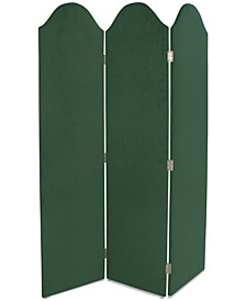 Jocelyn Curved Velvet Sceen Room Divider
