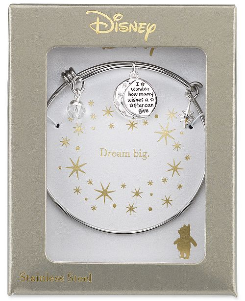 Winnie The Pooh Wishes Crystal Charm Bracelet In Stainless Steel 2 Reviews Main Image