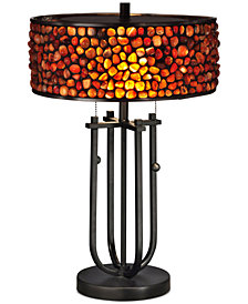 Dale Tiffany Pebble Stone Metal Table Lamp