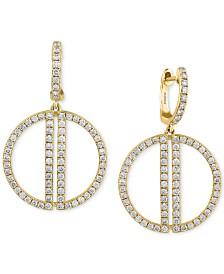 EFFY® Diamond Drop Earrings (3/4 ct. t.w.) in 14k Gold
