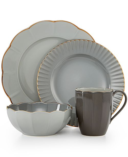 cb6edca7f2 Marchesa by Lenox Dinnerware, Shades of Grey Collection & Reviews ...