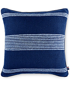 "CLOSEOUT! Tommy Hilfiger Pacific Horizon 20"" Square Decorative Pillow"