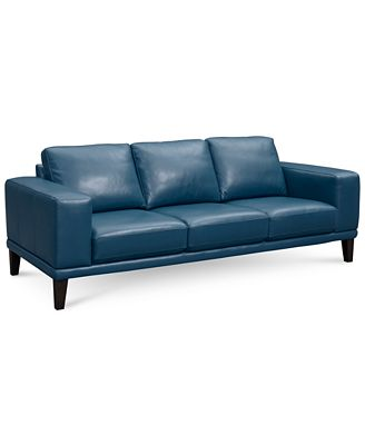 Teal blue leather sofa aqua blue leather sofa best sofas for Teal leather couch