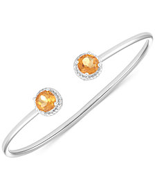 Citrine Open Bangle Bracelet (2-3/8 ct. t.w.) in Sterling Silver