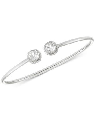 White Topaz Flexible Bangle Bracelet (3-1/5 ct. t.w.) in Sterling Silver