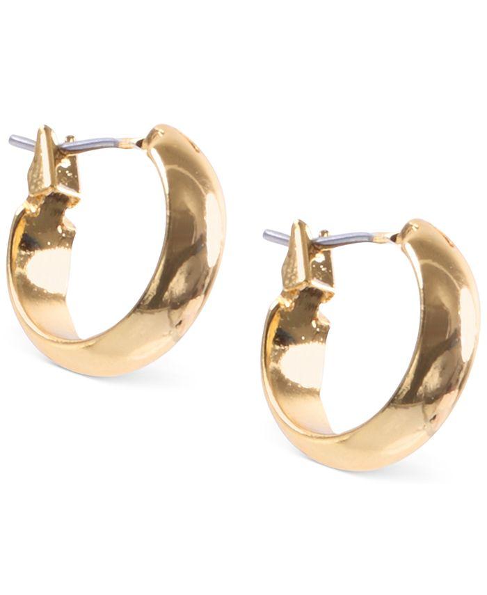 Anne Klein - Silver-Tone Small Hoop Earrings