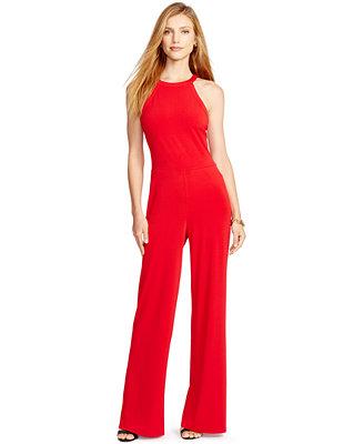 Lauren Ralph Lauren Petite Jersey Jumpsuit Pants