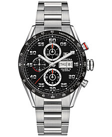 TAG Heuer Men's Swiss Automatic Chronograph Carrera Calibre 16 Stainless Steel Bracelet Watch 43mm CV2A1R.BA0799