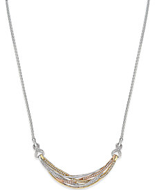 Diamond Tri Orbit Necklace (1/2 ct. t.w) in 14k Two-Tone Gold and Sterling Silver