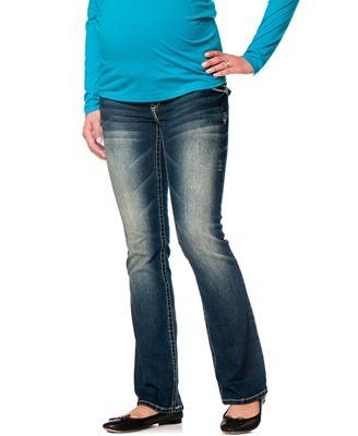 Wallflower Maternity Plus Size Bootcut Maternity Jeans, Katy Wash ...
