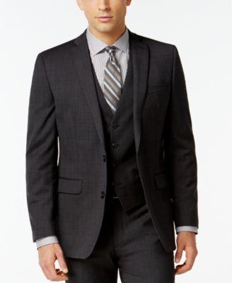 Dark Charcoal Slim-Fit Jacket