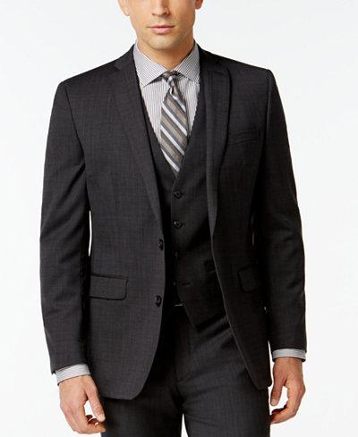 Bar III Dark Charcoal Slim-Fit Jacket