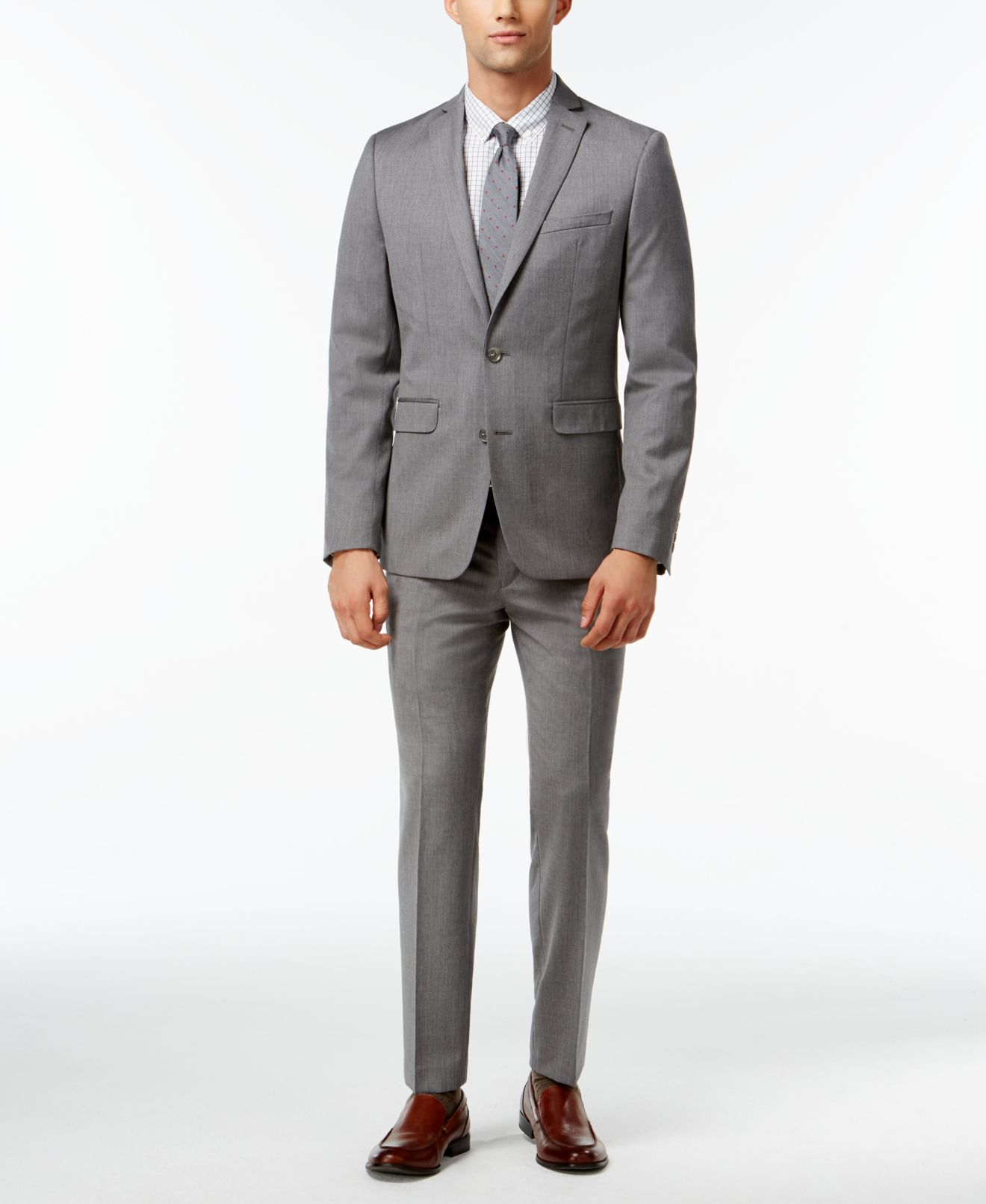 Bar III Light Grey Extra Slim-Fit Suit Separates - Suits & Suit ...