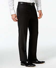 Tommy Hilfiger Black Classic-Fit Tuxedo Pants
