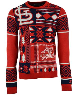 Forever Collectibles Mens St Louis Cardinals Patches Christmas