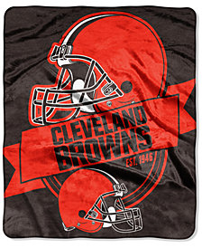 Northwest Company Cleveland Browns Micro Raschel 12th Man Throw Blanket