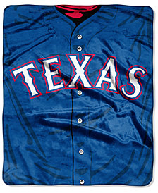 Northwest Company Texas Rangers Raschel Strike Blanket