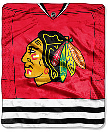 Northwest Company Chicago Blackhawks Raschel Stamp Blanket