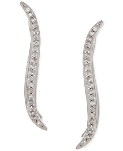 Diamond Ear Crawlers (1/10 ct. t.w.) in Sterling Silver