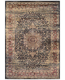 "CLOSEOUT! Couristan HARAZ HAR439 Black 2' x 3'7"" Area Rug"
