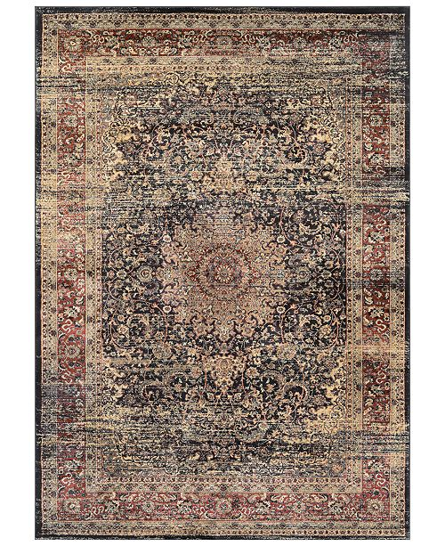 "Couristan CLOSEOUT! HARAZ HAR439 Black 2' x 3'7"" Area Rug"