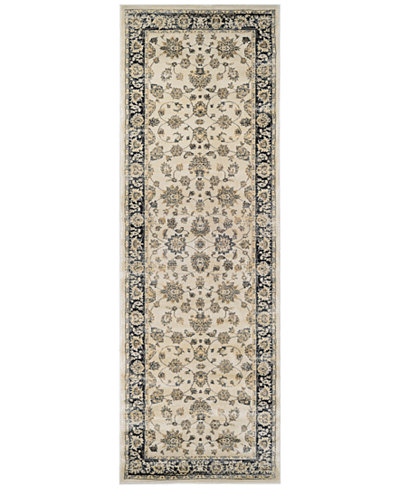 CLOSEOUT! Couristan HARAZ HAR1443 Ivory/Black 2'7