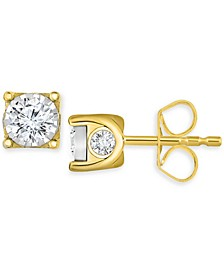 Diamond Stud Earrings (3/8 ct. t.w.) in 14k Gold, White Gold or Rose Gold