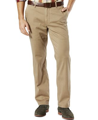 Dockers® Men's Stretch Straight Fit Washed Khaki Pants D2 - Pants ...