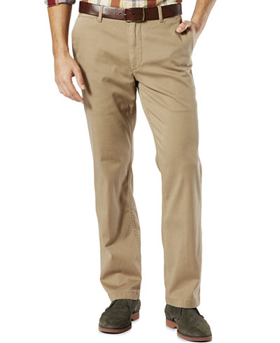 Dockers® Straight Fit Washed Khaki Pants D2 - Green Pants - SLP ...