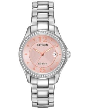 Citizen WOMEN'S ECO-DRIVE STAINLESS STEEL BRACELET WATCH 29MM FE1140-86X