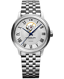 RAYMOND WEIL Men's Swiss Automatic Maestro Stainless Steel Bracelet Watch 40mm 2227-ST-00659