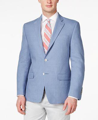 Lauren Ralph Lauren Solid Linen Classic-Fit Sport Coat - Blazers ...