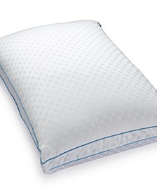 Dual Comfort Standard/Queen Pillow, Gel-Infused Memory Foam & Fiber Fill iCOOL Technology System®, 400 Thread Count 100% Cotton Cover